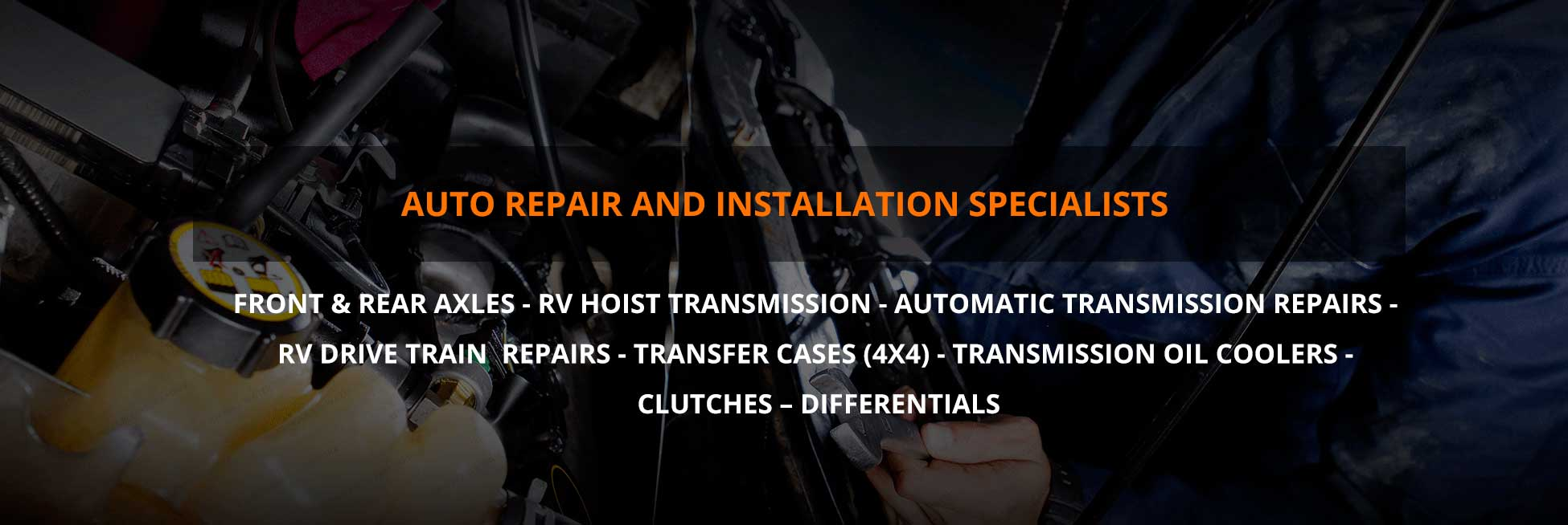 Auto Repair and Installation Specialists